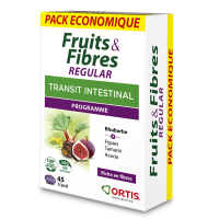 ORTIS - Fruits & Fibres REGULAR (ECOPACK 45 comprimés)