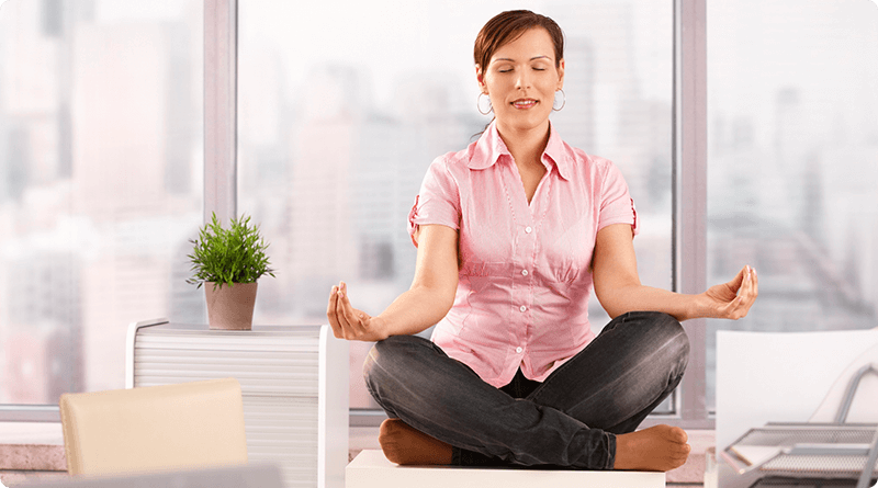 Fight stress: yoga, meditation